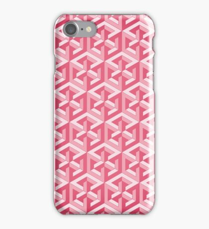 Penrose Cube - Pink iPhone Case/Skin