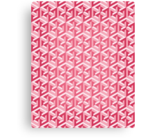 Penrose Cube - Pink Canvas Print