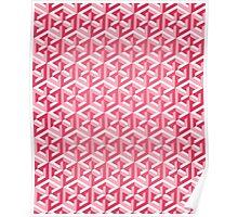 Penrose Cube - Pink Poster