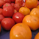 Farmers market tomatoes 2 by Farrah Garland