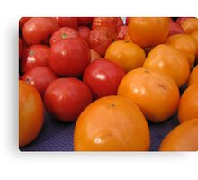 Farmers market tomatoes 2 Canvas Print