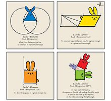 Euclid's Elements Book 1 GeoBunnies 4-Panels Photographic Print