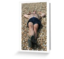 the dead body on the beach Greeting Card