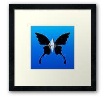 Platinum Butterfly Framed Print