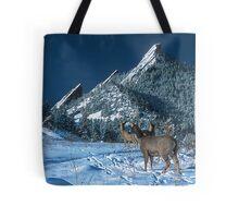 The Flatirons And Deer Tote Bag