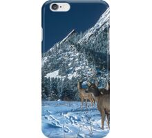 The Flatirons And Deer iPhone Case/Skin