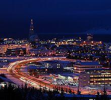 Winter Dream Reykjavik Iceland by Michael Duggan