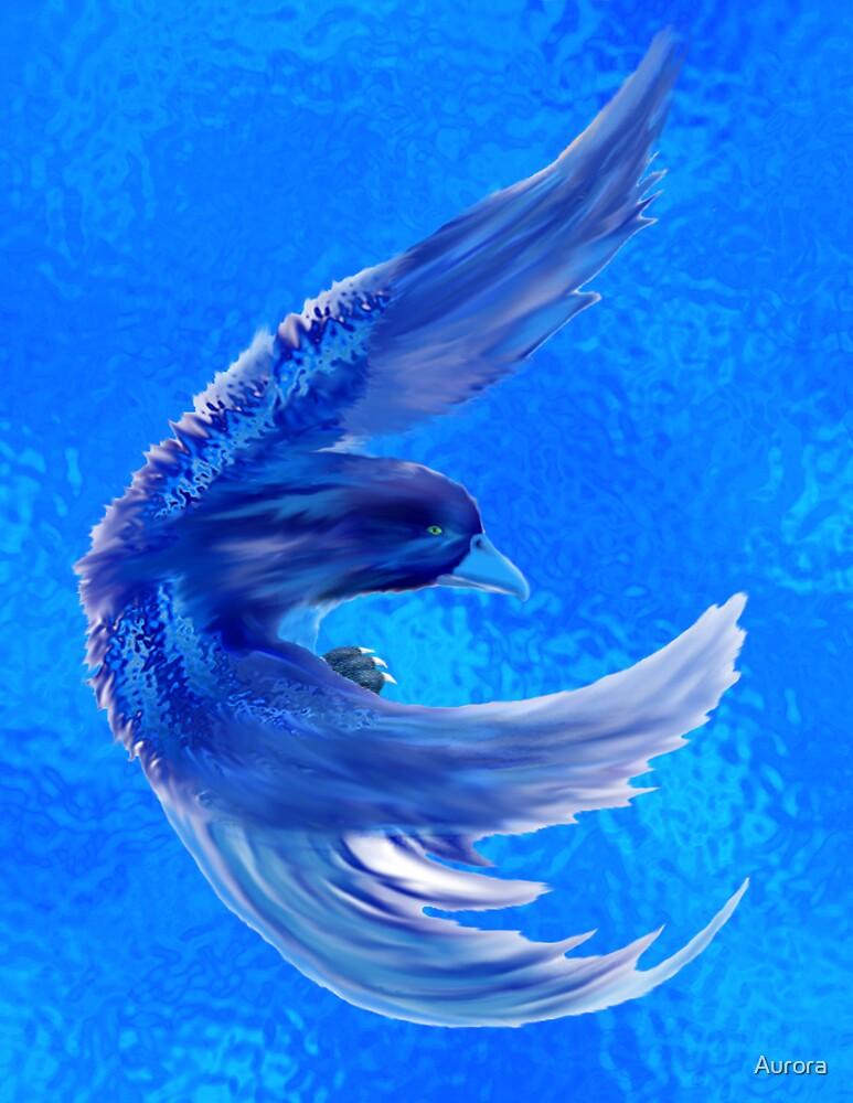 Blue water pheonix by Aurora