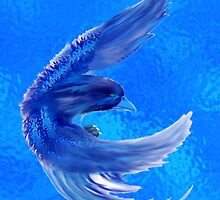 Blue water pheonix by Aurora