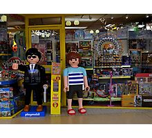 Playmobil Model Children outside a Toy Shop Photographic Print