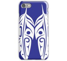 Four Feathers on Royal Blue iPhone Case/Skin