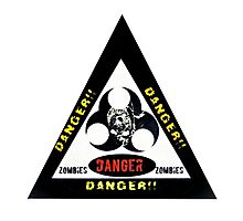 Danger zombies Photographic Print
