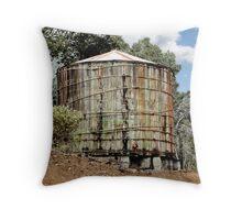 Rustic Water Tank Throw Pillow