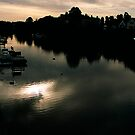 Dawn on the River Dee by Louise Green