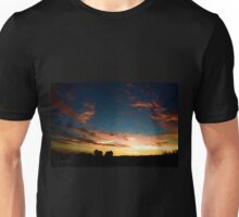 Silhouette Sunset from St Tim's ~ digital paint effect Unisex T-Shirt