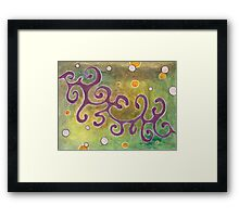 Falling Debris Living in Their Collective States Framed Print