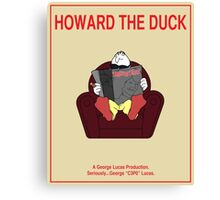 Howard the Duck Movie Poster Canvas Print