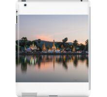 Reflection of Wat Chong Kham at dusk iPad Case/Skin