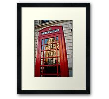 big ben in a telephone box Framed Print
