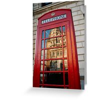 big ben in a telephone box Greeting Card