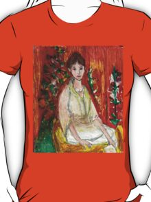 Lady In Front Of Decorated Screen T-Shirt