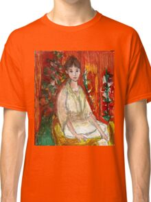 Lady In Front Of Decorated Screen Classic T-Shirt