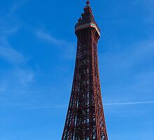 Blackpool Tower - In the sunshine by Sharon Perrett