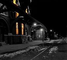 Mauch Chunk Station Ala Polar Express by Debra Fedchin
