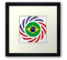 Brazilian American Multinational Patriot Flag Series Framed Print