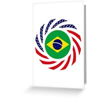 Brazilian American Multinational Patriot Flag Series Greeting Card