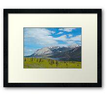 Mountains along the Yukon Trail, BC, Canada. 2012. Framed Print