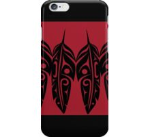 Four Feathers Black on Red iPhone Case/Skin