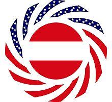 Austrian American Multinational Patriot Flag Series Photographic Print
