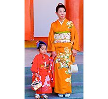 Traditional Japanese Dress, Family Day, Meiji Palace, Kyoto. Photographic Print