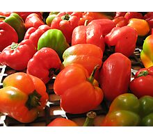 Farmers market peppers Photographic Print
