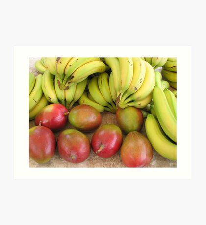 Farmers market fruits Art Print