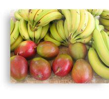 Farmers market fruits Metal Print
