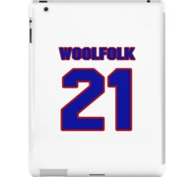National football player Butch Woolfolk jersey 21 iPad Case/Skin