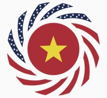 Vietnamese American Multinational Patriot Flag Series Baby Tee