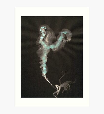 0003 - Brush and Ink - Cut Art Print