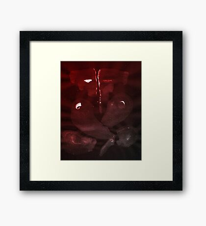 0004 - Brush and Ink - Elephant Framed Print