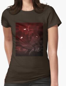 0004 - Brush and Ink - Elephant Womens Fitted T-Shirt