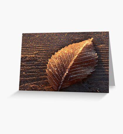 Gold leaf Greeting Card