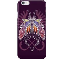 Mab the Queen of Fey (bold white and pale purple) iPhone Case/Skin