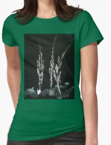 0005 - Brush and Ink - Flowers Womens Fitted T-Shirt