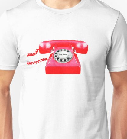 Retro red telephone Unisex T-Shirt