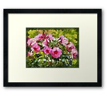 Bunch of blooming flowers Framed Print