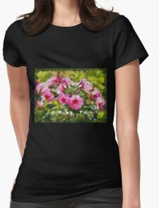 Bunch of blooming flowers Womens Fitted T-Shirt