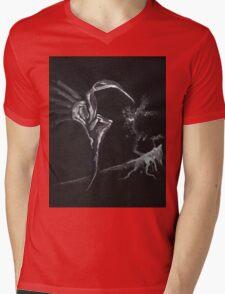 0006 - Brush and Ink - Hill Mens V-Neck T-Shirt