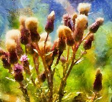 Bunch of flowers under a shining sun by Ron Zmiri